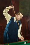 Joe Davis Billiard, Snooker Oil Painting