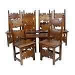 Walnut Renaissance Dining Chairs