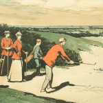 Golf Print, A Mixed Foursome after Arthur Loraine