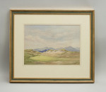 The 18th Hole at Harlech, Golf Watercolour