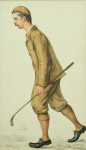 Original Golf Painting of John Ball of Hoylake by Libero Prosperi