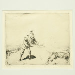 Golf Etching by Barclay, 'Out of the Dunes'