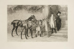 Antique Equestrian Print, Samuel Edmund Waller, Twixt Love And Duty.