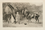 Antique Heywood Hardy Equestrian Print, Too Late.