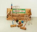 Vintage Jaques Croquet Set with Boxwood Mallets