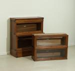 Antique Oak Globe Wernicke Bookcase, 4 Sections.