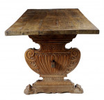 Antique Tuscan Refectory Table in Walnut