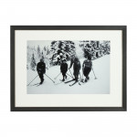 Vintage Alpine Ski Photograph, Bend Zie Knees
