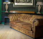 Vintage Button Back Chesterfield Sofa, Edwardian Style.