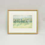 Hunt Steeplechase Print by Lionel Edwards, A Sportsman's Bag