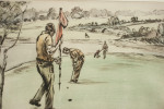 Henry Wilkinson Golf Etching