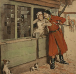Amorous Huntsman By Cecil Aldin
