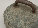 Antique Curling Stone With Steel Handle