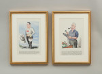 Motor - Cycling Personalities Past and Present Framed Set Of Pictures By Sallon, Shell-Mex & B.P