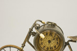 Antique Novelty Bicycle Mantle Clock