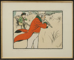 Antique Golf Print, Signed Cecil Aldin Golf Chromolithograph, Old English Sports and Pastimes