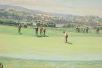 Original Watercolour By Arthur Weaver, 6th Green St Andrews