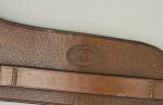 Vintage Hunting Saddle Flask In Original Leather Case
