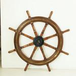 Antique Ships Wheel, Teak Helm Wheel.