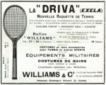 Vintage Tennis Racket, Eilliam & Co. Paris 1915