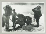 Antique Mountaineering Porters Wooden Tea Chest & Ice Axe, John Baird Tyson, OBE
