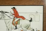 Antique Fox Hunting Print, Cecil Aldin , Admiration