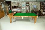Vintage Riley 8Ft Oak Billiard, Snooker, Pool, Dining Table
