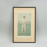 Vanity Fair Tennis Print 'Thrice Champion'