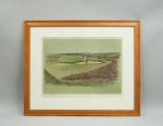 Original Signed Cecil Aldin Golf Print, Walton Heath