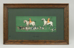 Antique Pair Of Hunting Prints By Cecil Aldin In Original Frames.