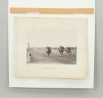 Vintage Sepia Tent Pegging Photograph