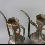 A Pair of Pewter Ewers