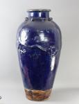 Large Blue Glazed Martaban