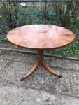 Late 18th century mahogany, satinwood and rosewood circular table