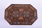A Moorish mother of pearl inlaid work table