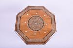 A 19th century octagonal Hoshiarpur bone inlaid table