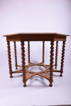 Oak centre table with barley-twist legs and unusual stretcher arrangement