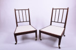 Pair of early 19th century rosewood bobbin chairs