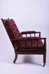 A 19th century bobbin armchair