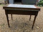 Marble top mahogany based side table