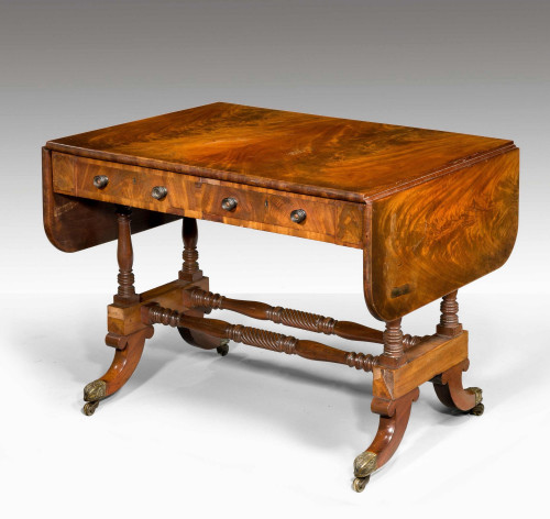 Regency Period Mahogany Sofa Table. Exceptionally Well Figured