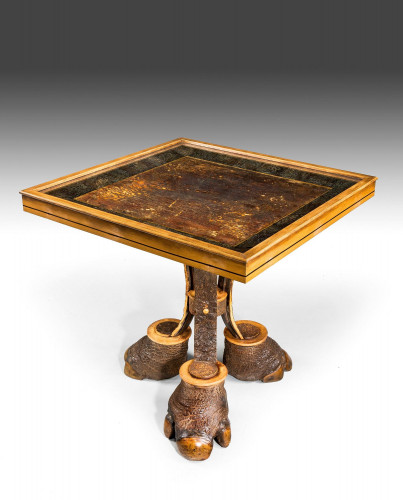 A Bizarre Rhino Hide Table
