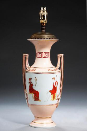 Single Neoclassical Decorated Vase / Lamp.