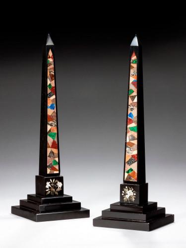 Pair of 19th Century Large Ashbourne Obelisks