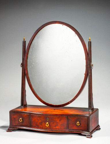 18th Century Mahogany Dressing Mirror