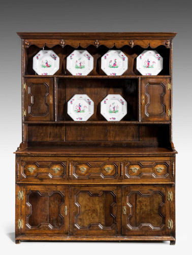 Mid-18th Century Oak Dresser and Rack