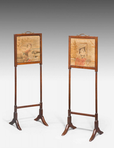 Pair of George III Period Small Screens