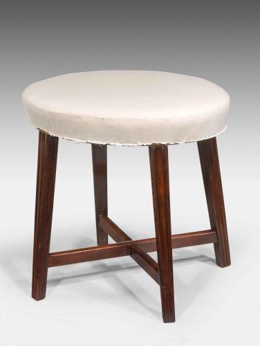 George III Period Mahogany Oval Stool