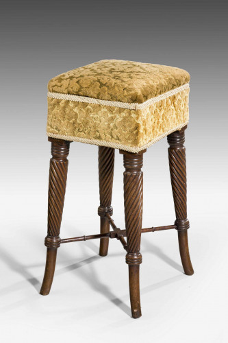 A George III Period Mahogany Stool