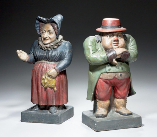 Pair of Mid-19th Century Polychrome Figures
